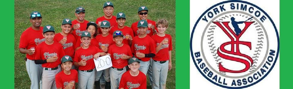 Richmond Hill Phoenix Peewee Select Gold Team - Perfect Regular Season and Finalists at YSBAs